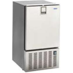 """Icemaker 8 kg / day """"white ice<br/>inox 230V 50Hz with 3 side frame<br/>with freezer compartment"""