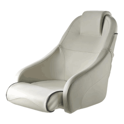 Seat helm QUEEN CHFUS flip-up squab<br/>with White artificial leather upholstery<br/>