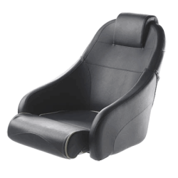 Seat helm QUEEN CHFUSBL flip-up<br/>squab with Blue artificial leather<br/>upholstery