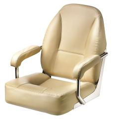 Seat helm MASTER CHFASC with Cream<br/>artificial leather upholstery<br/>SS frame & fixed armrest