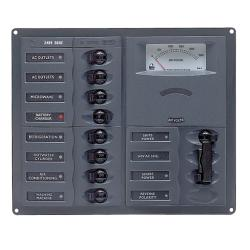 Panel 900-AC2H-AM 230V 2 input+ 8<br/>load square mount with analog meter<br/>