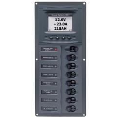 Panel 900V-DCSM 12V 4 breaker<br/>Vertical mount with digital meter<br/>