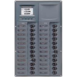Panel 905V-DCSM 12V 24 breaker<br/>Vertical mount with digital meter<br/>