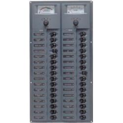 Panel 906-AM 12V 32 breaker<br/>Horizontal mount with analog meter<br/>