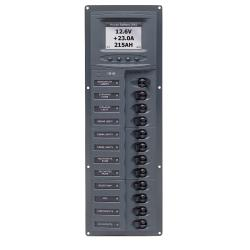 Panel 902V-DCSM 12V 12 breaker<br/>Vertical mount with digital meter<br/>