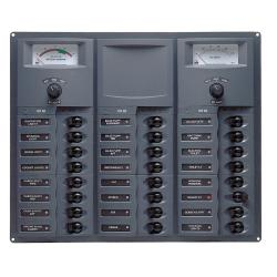 Panel 906-DCSM 12V 32 breaker<br/>Horizontal mount with digital meter<br/>