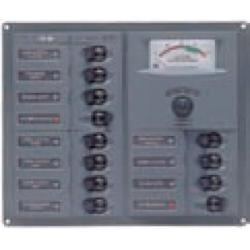 Panel 904-DCSM 12V 16 breaker<br/>Vertical mount with digital meter<br/>